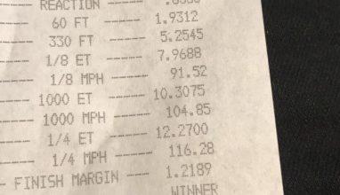 Sam's Mercedes-Benz C450 goes 12.2 at 116mph!