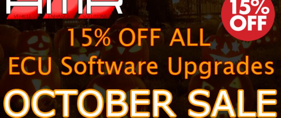 OCTOBER SALE! 15% OFF ALL ECU SOFTWARE UPGRADES!