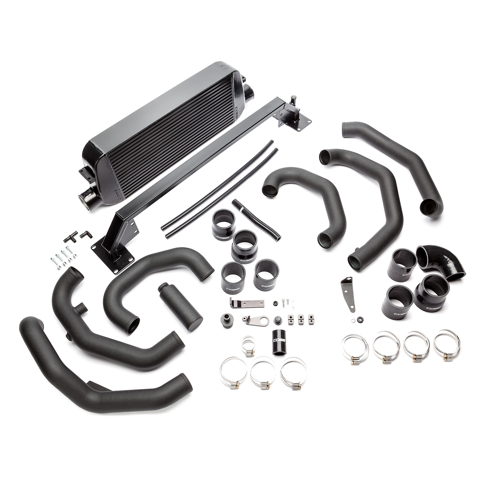 COBB TUNING SUBARU STI FRONT MOUNT INTERCOOLER KIT 2015-17 (SILVER/BLACK)